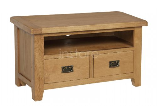 Loxley Oak Straight TV Unit (drawers)